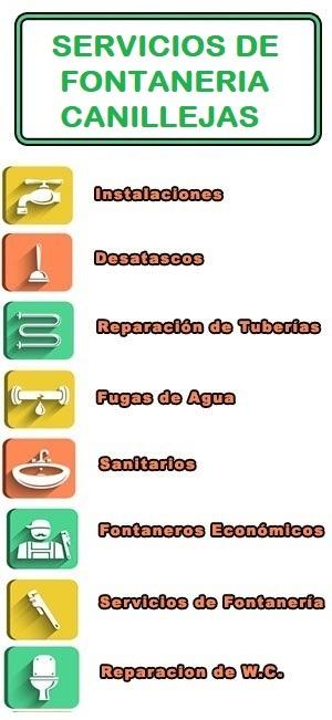 servicios de fontaneria en Canillejas
